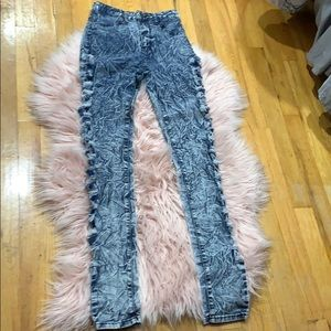 VIP ripped blue jeans